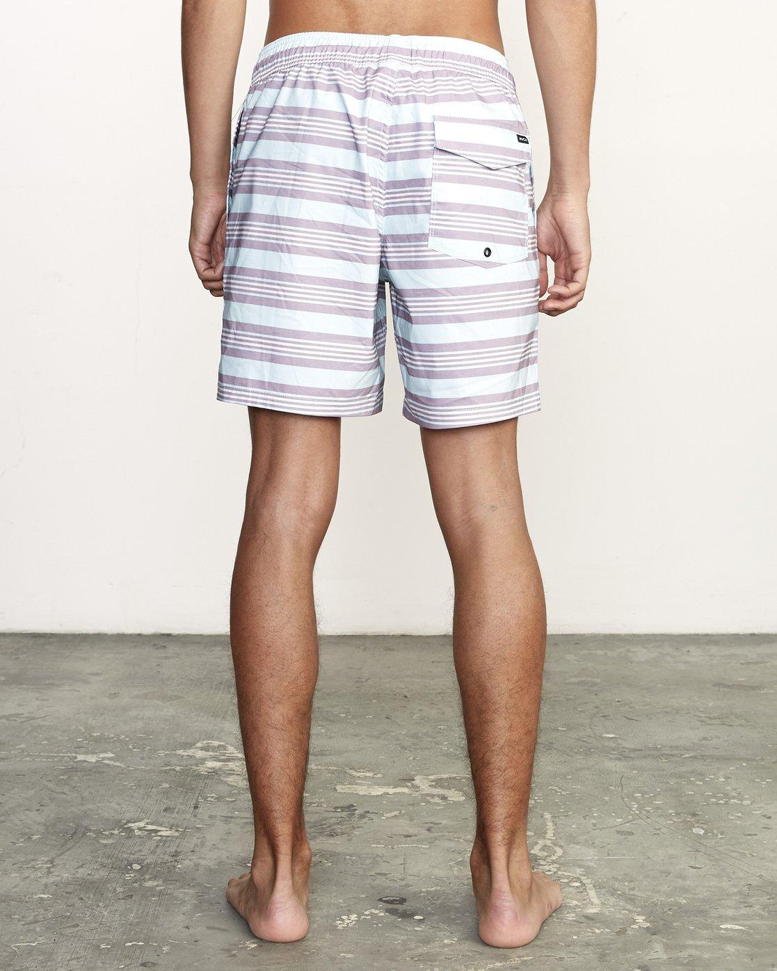 "4 Controller 17"" - Elastic Waist Shorts for Elastic Waist Shorts Blue S1VORCRVP0 RVCA"