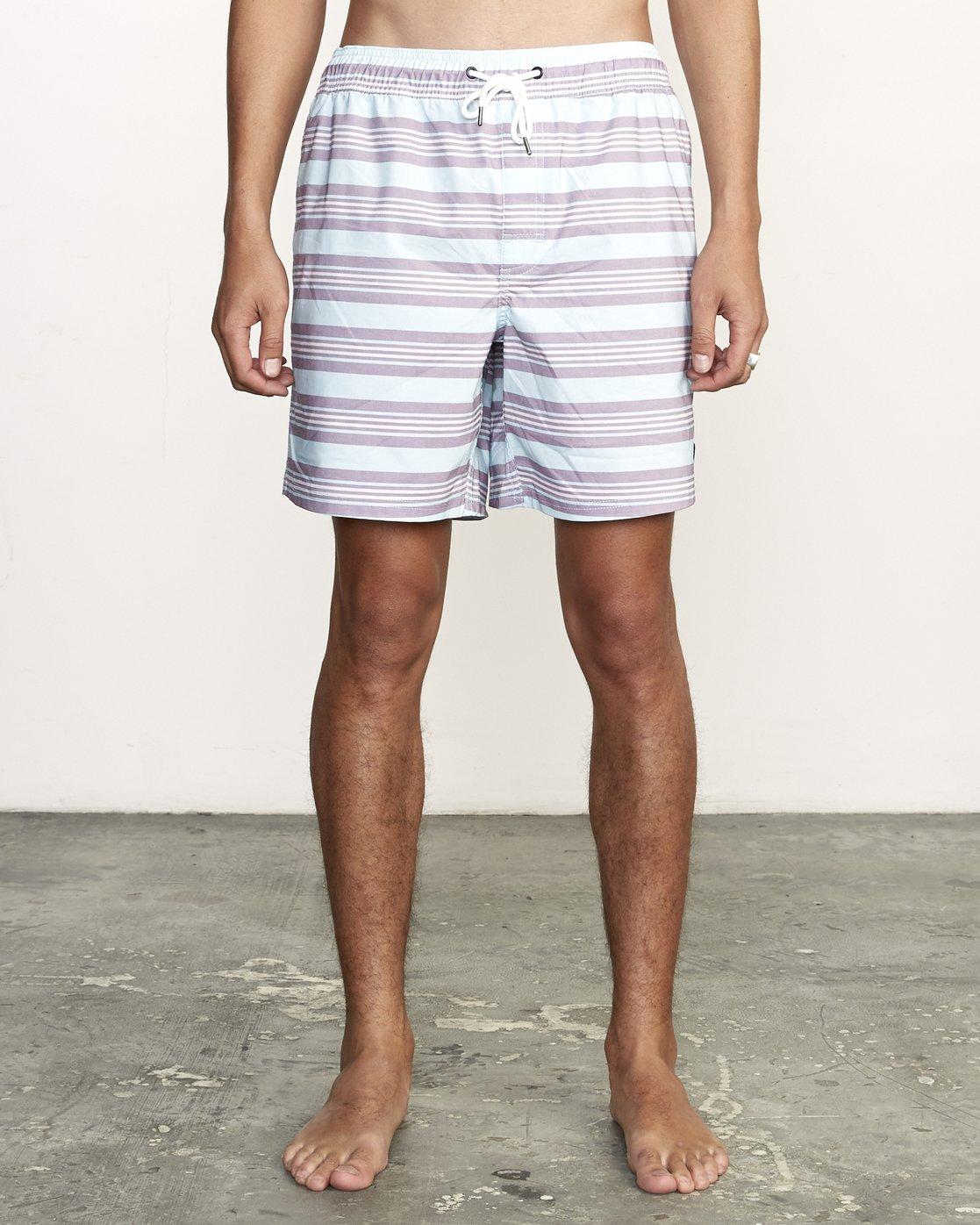 "1 Controller 17"" - Elastic Waist Shorts for Elastic Waist Shorts Blue S1VORCRVP0 RVCA"
