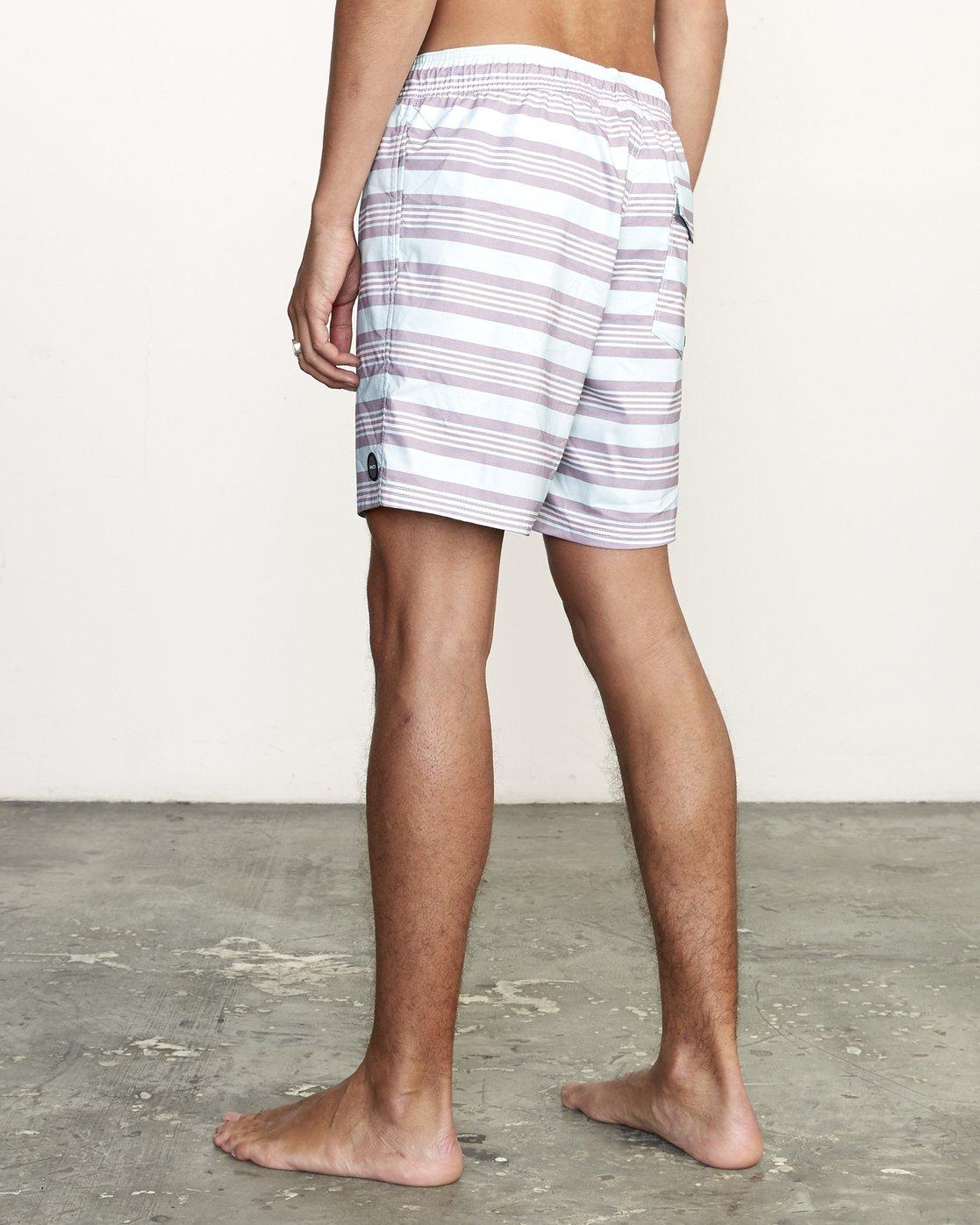 "3 Controller 17"" - Elastic Waist Shorts for Elastic Waist Shorts Blue S1VORCRVP0 RVCA"