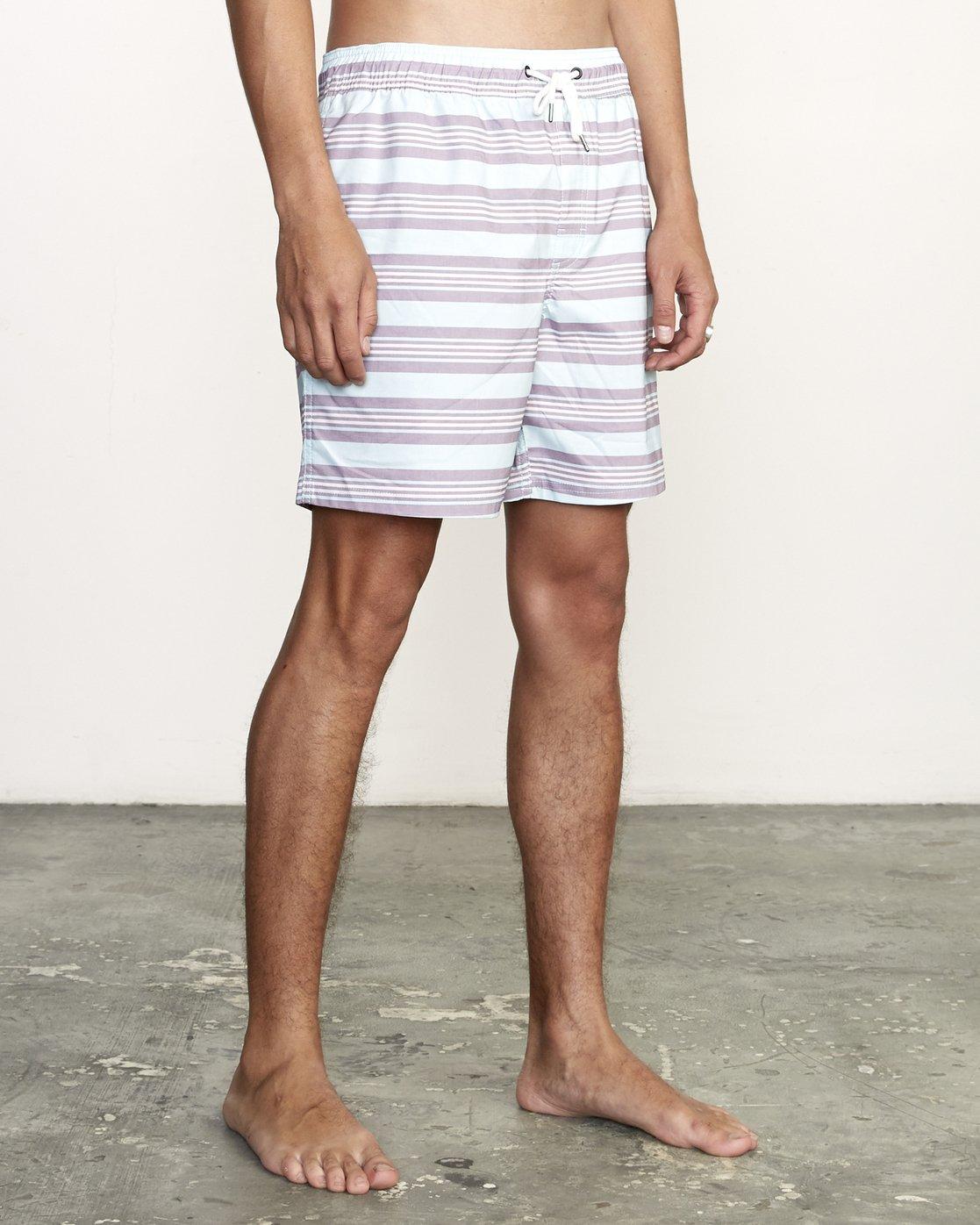"6 Controller 17"" - Elastic Waist Shorts for Elastic Waist Shorts Blue S1VORCRVP0 RVCA"
