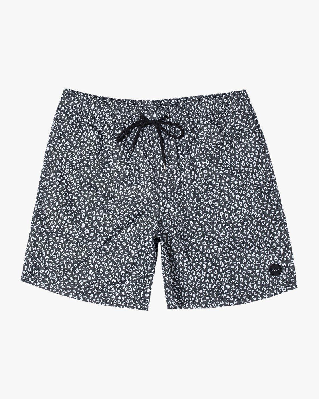 "0 Club 17"" - Elastic Waist Shorts for Elastic Waist Shorts Black S1VORDRVP0 RVCA"