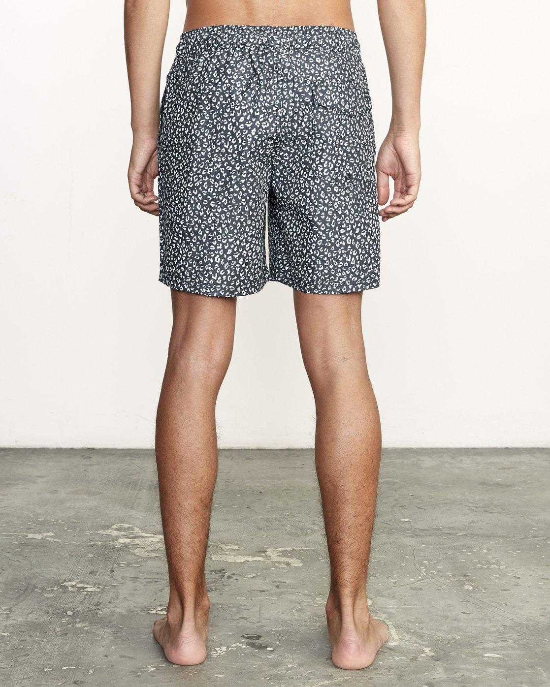 "4 Club 17"" - Elastic Waist Shorts for Elastic Waist Shorts Black S1VORDRVP0 RVCA"