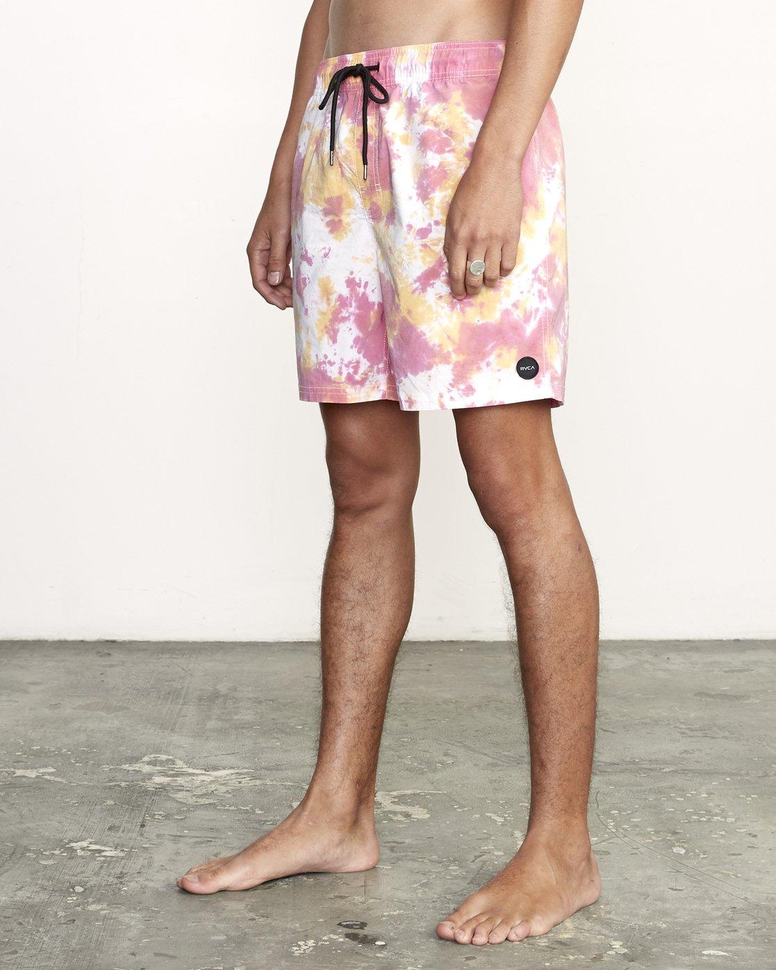 1 Manic Elastic  - Tie-Dye Elastic Waist Short for Men  S1VORERVP0 RVCA