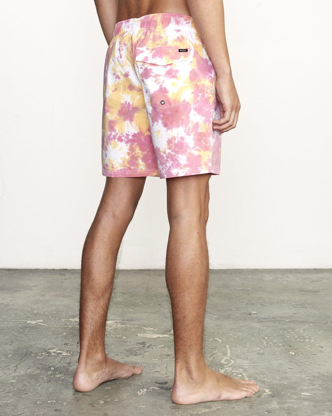 4 Manic Elastic  - Tie-Dye Elastic Waist Short for Men  S1VORERVP0 RVCA