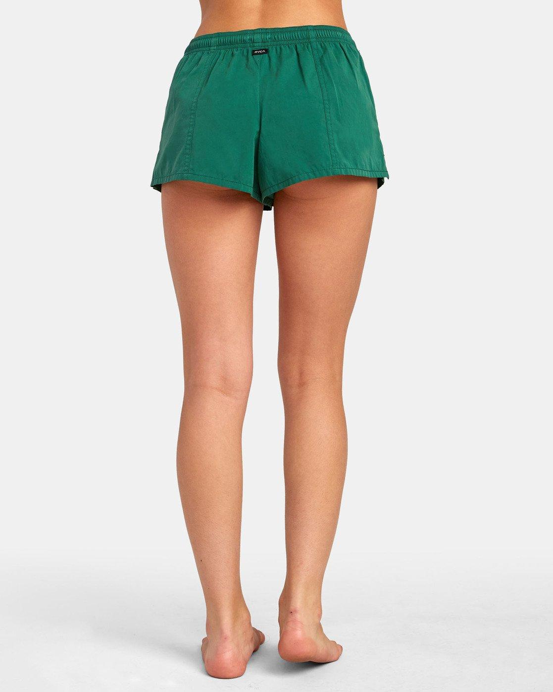 3 Synced Up - Bade-Shorts für Damen Grün S3BSRARVP0 RVCA