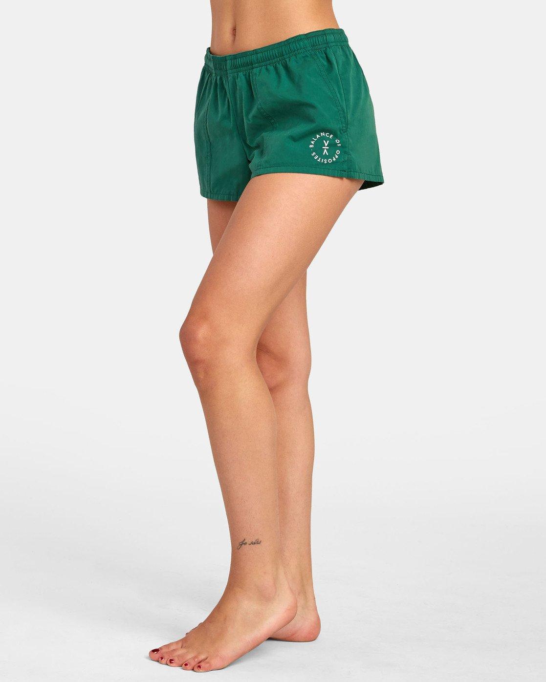 1 Synced Up - Bade-Shorts für Damen Grün S3BSRARVP0 RVCA