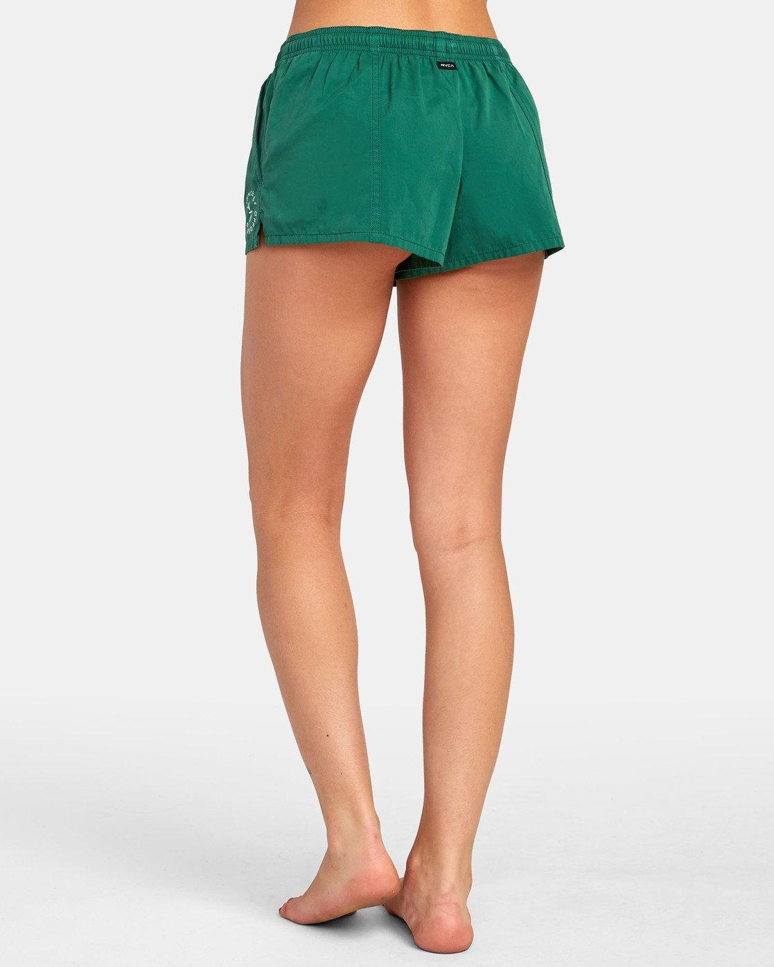 4 Synced Up - Bade-Shorts für Damen Grün S3BSRARVP0 RVCA