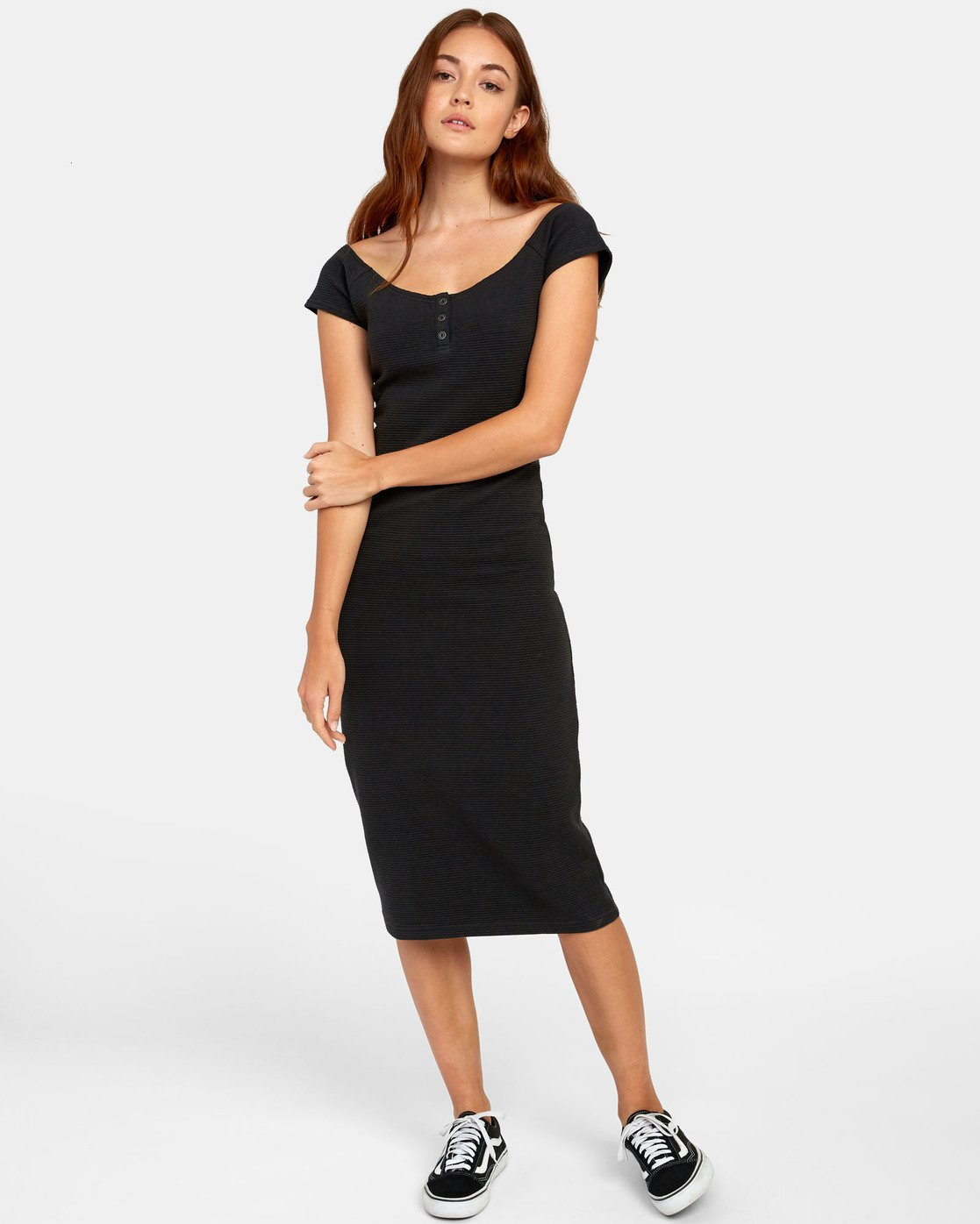 1 Stripped Down Dress - Dress for Women Black S3DRRARVP0 RVCA