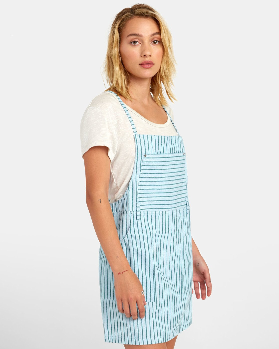 1 River - Striped Overall Style Dress for Women  S3DRRCRVP0 RVCA