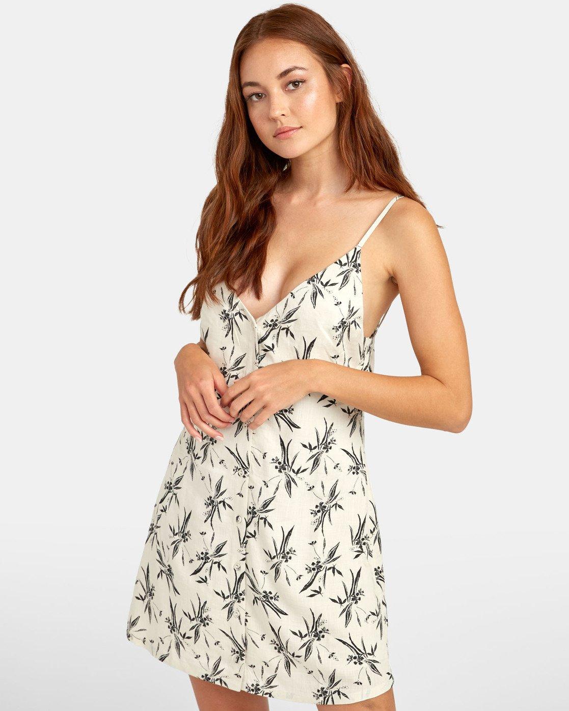 0 Aaron - Printed Mini Dress for Women Beige S3DRRNRVP0 RVCA