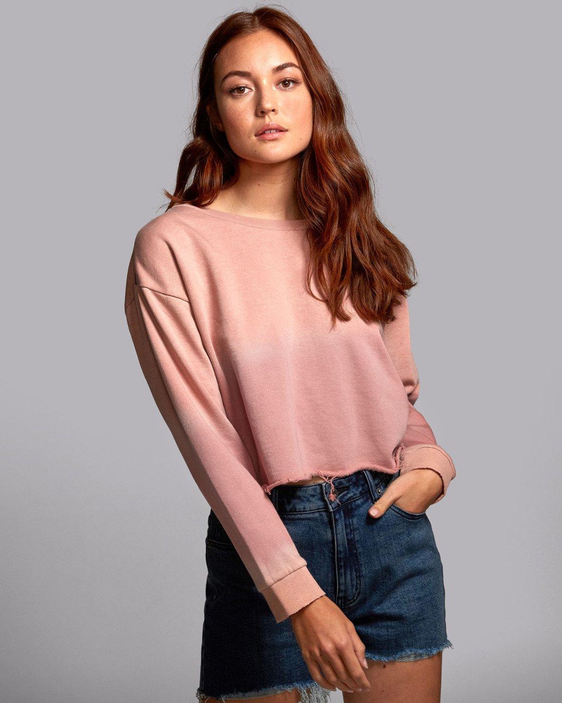 1 Buzzed - Sweatshirt pour Femme  S3FLRARVP0 RVCA