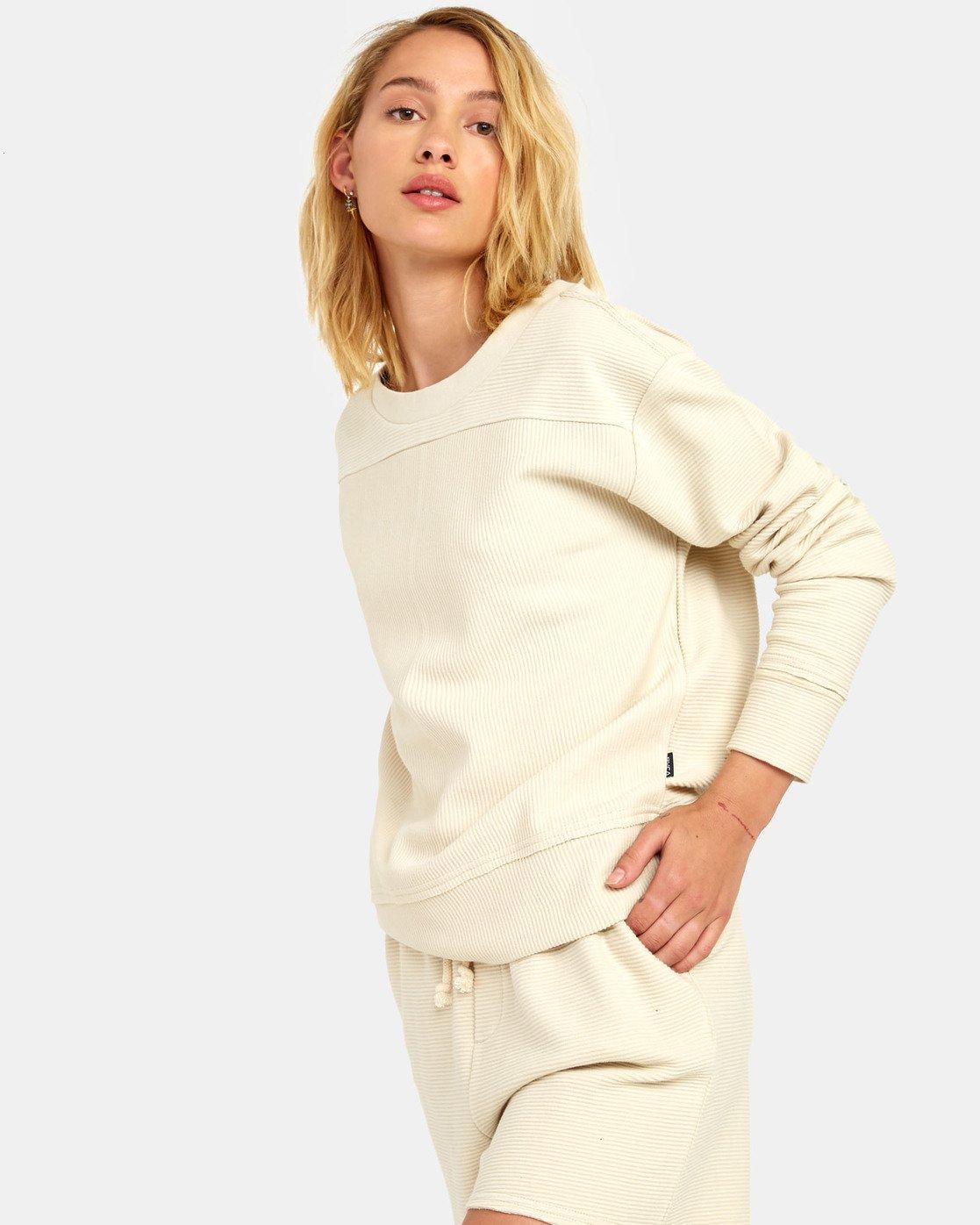 3 Maddy Top - Sweatshirt for Women Beige S3FLRDRVP0 RVCA