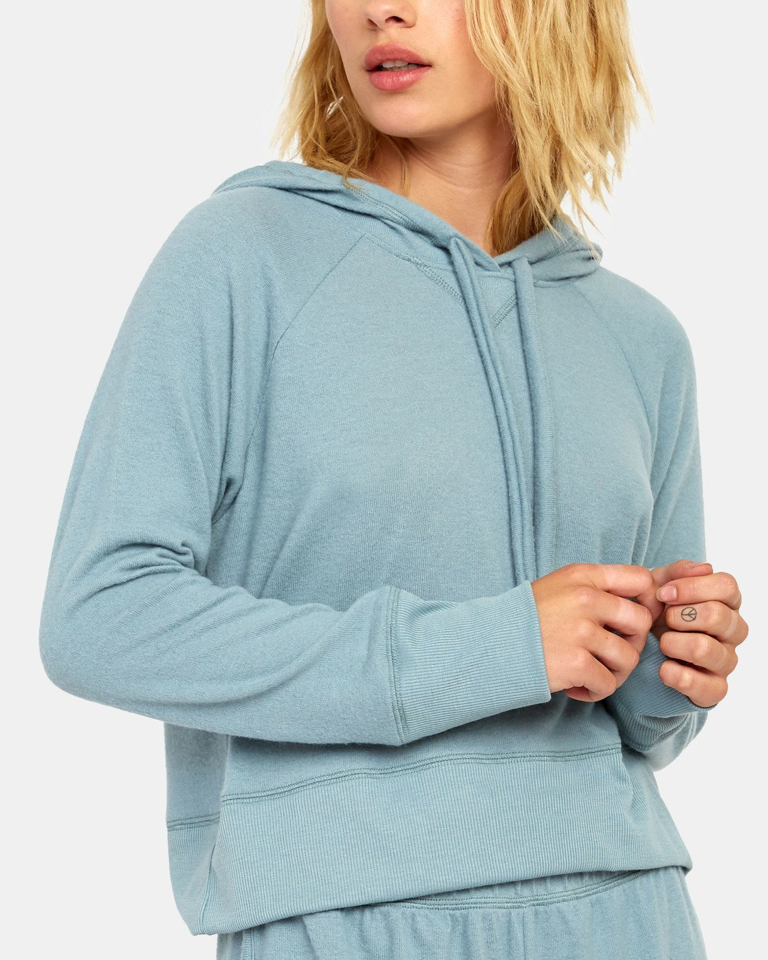 5 Night Off  - Hoodie for Women Grey S3FLRERVP0 RVCA