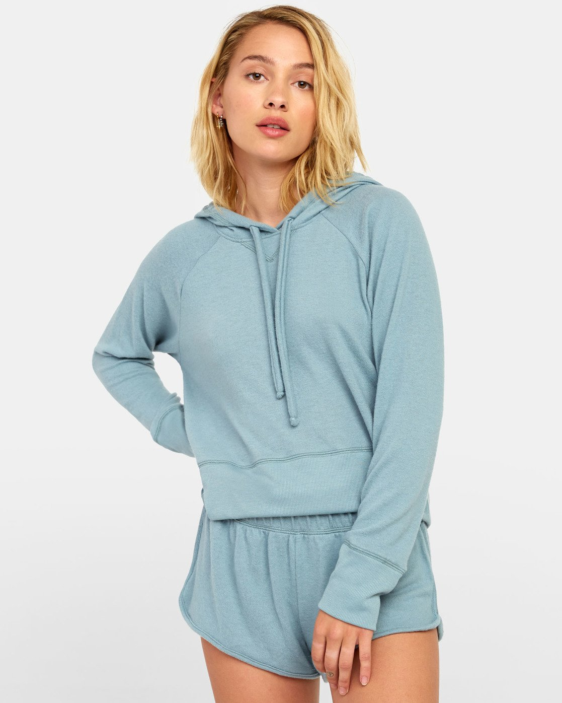 0 Night Off  - Hoodie for Women Grey S3FLRERVP0 RVCA