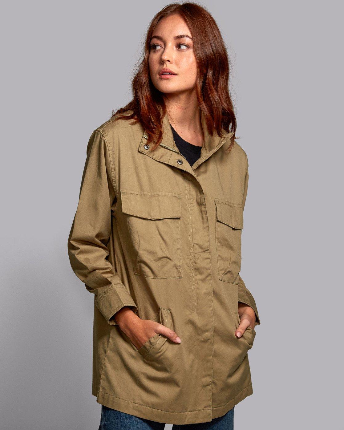 0 Mountain  - Oversized Jacket for Women  S3JKRBRVP0 RVCA