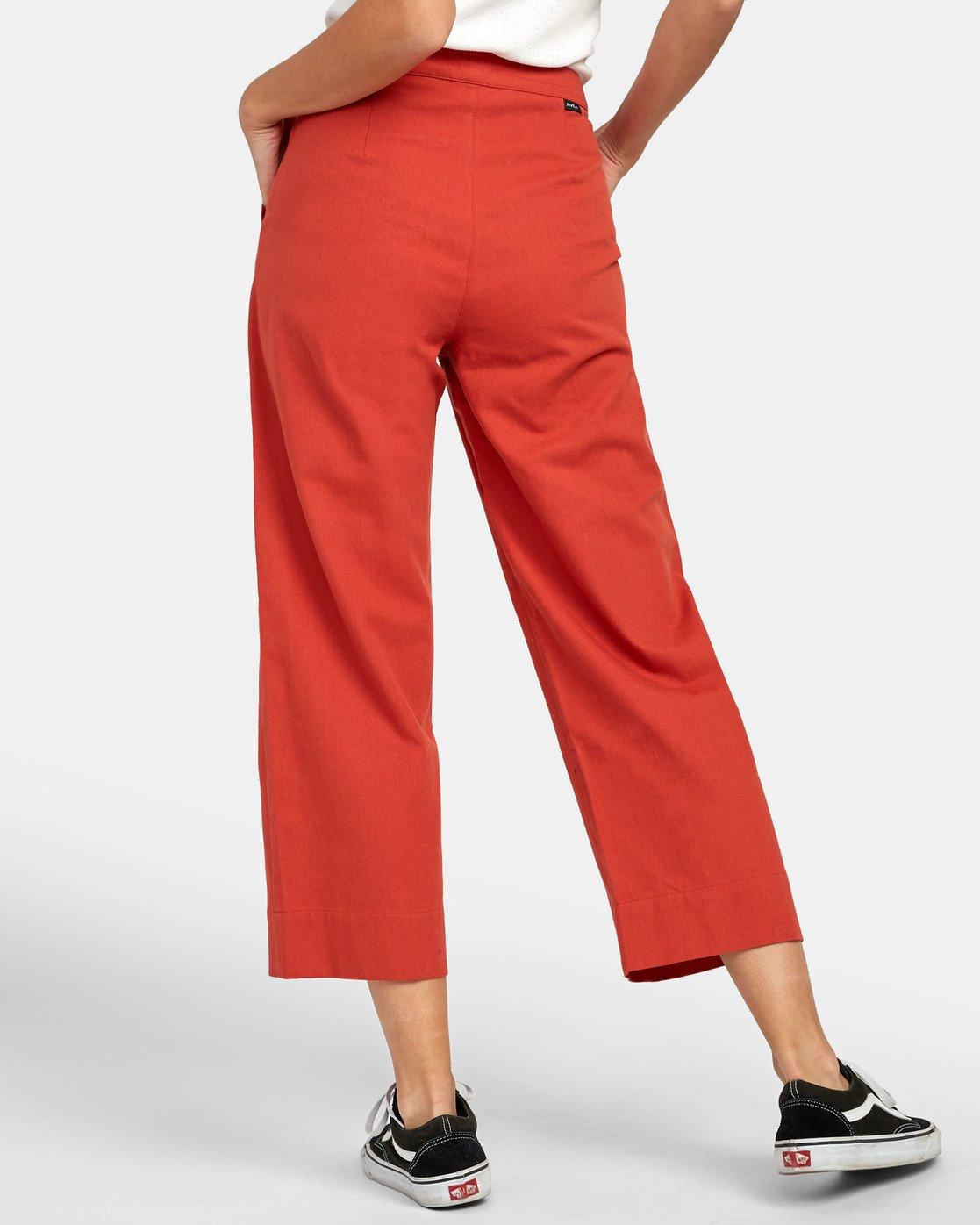 3 Grade - Pantalon taille haute pour Femme Orange S3PTRDRVP0 RVCA