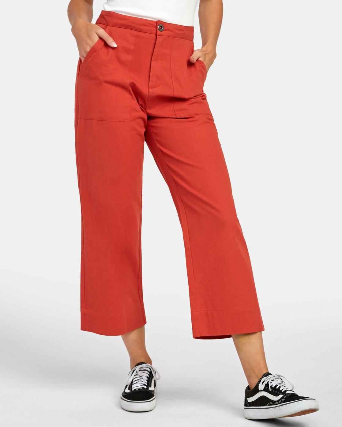 0 Grade - Pantalon taille haute pour Femme Orange S3PTRDRVP0 RVCA