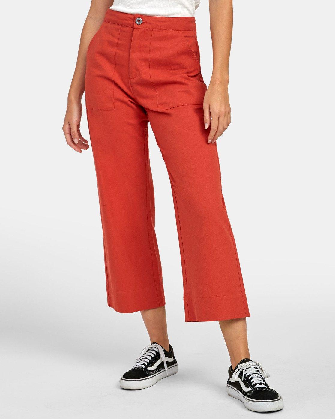 1 Grade - Pantalon taille haute pour Femme Orange S3PTRDRVP0 RVCA