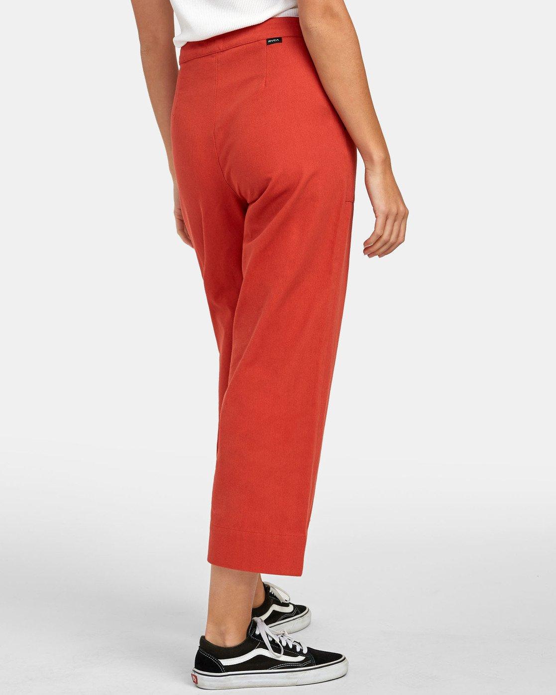 4 Grade - Pantalon taille haute pour Femme Orange S3PTRDRVP0 RVCA