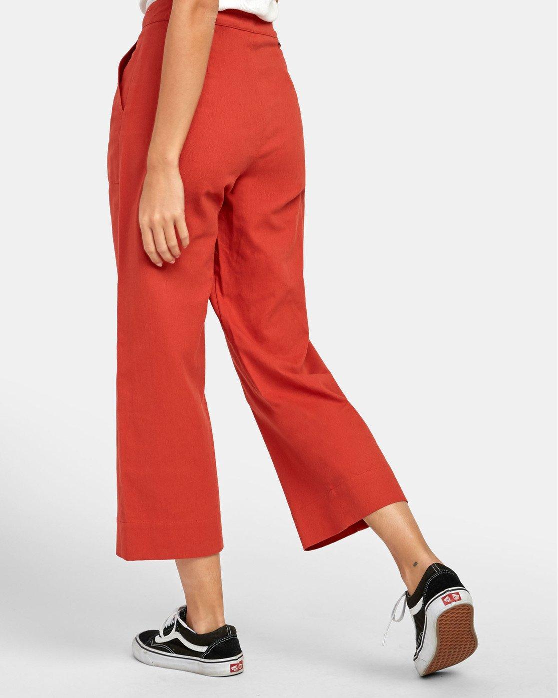 5 Grade - Pantalon taille haute pour Femme Orange S3PTRDRVP0 RVCA