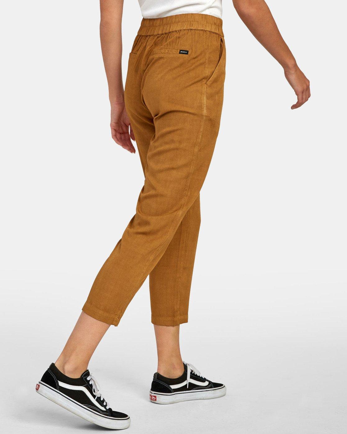 5 Manila - Pantalon cropped pour Femme Marron S3PTRGRVP0 RVCA