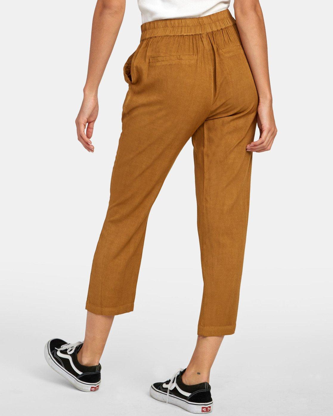 6 Manila - Pantalon cropped pour Femme Marron S3PTRGRVP0 RVCA