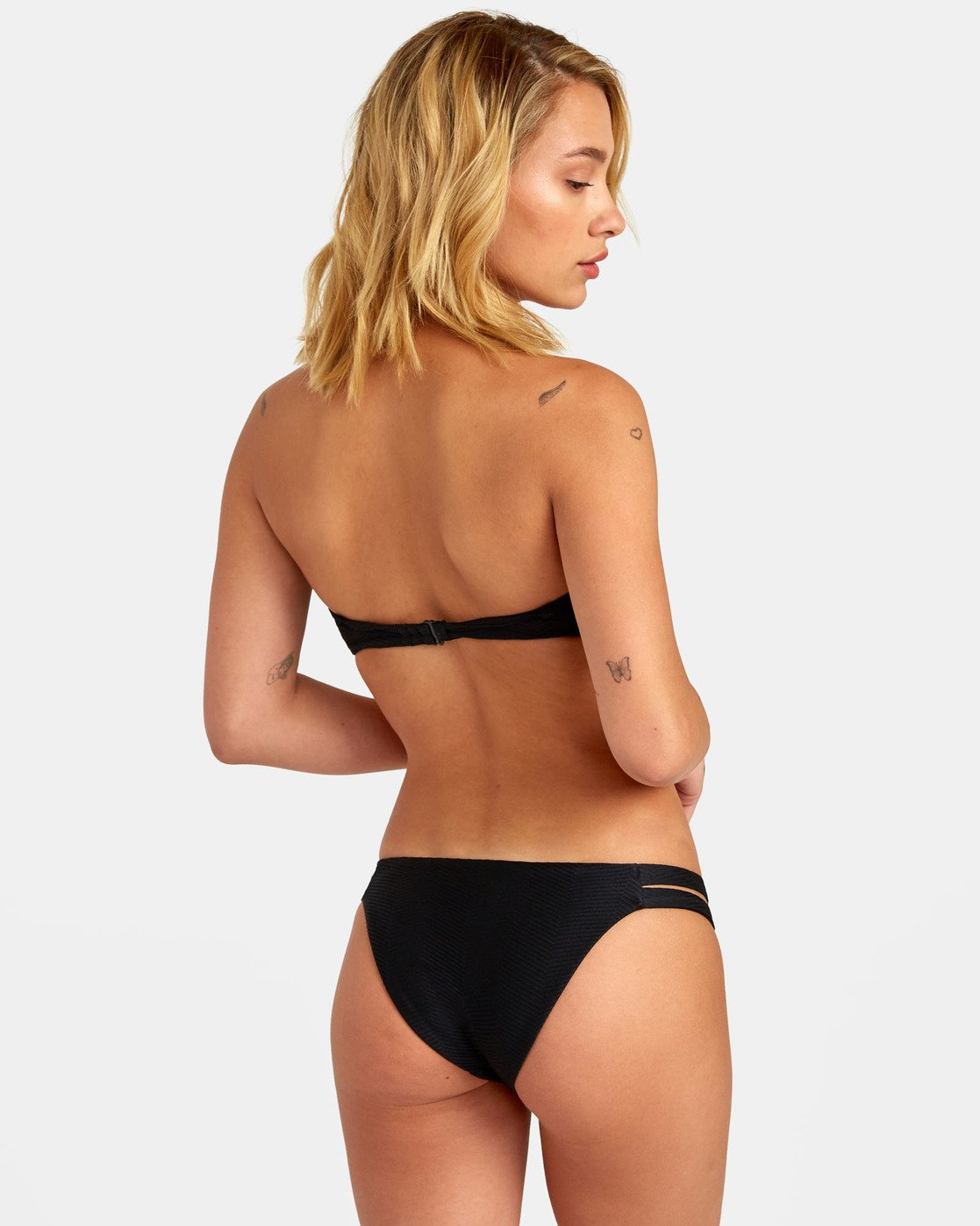 0 Bodega Medium - Textured Bikini Bottoms for Women Black S3SBRDRVP0 RVCA