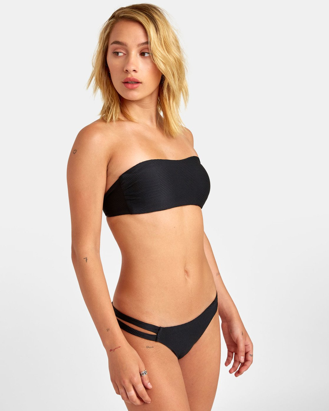 1 Bodega Medium - Textured Bikini Bottoms for Women Black S3SBRDRVP0 RVCA