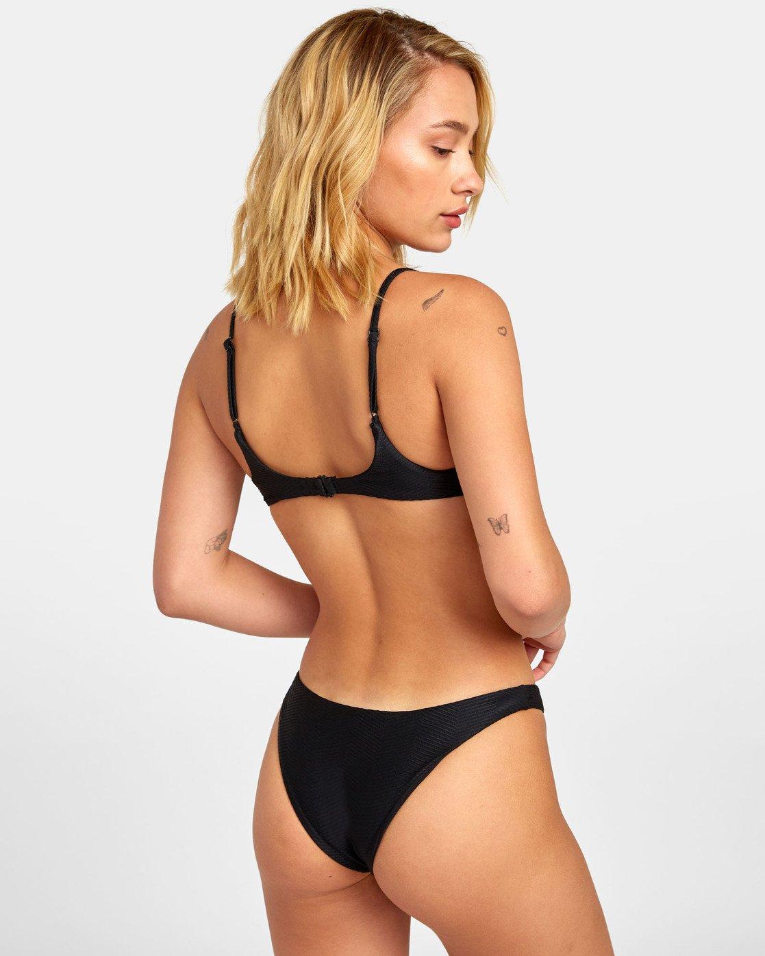 0 Bodega French - Textured Bikini Bottoms for Women Black S3SBRERVP0 RVCA
