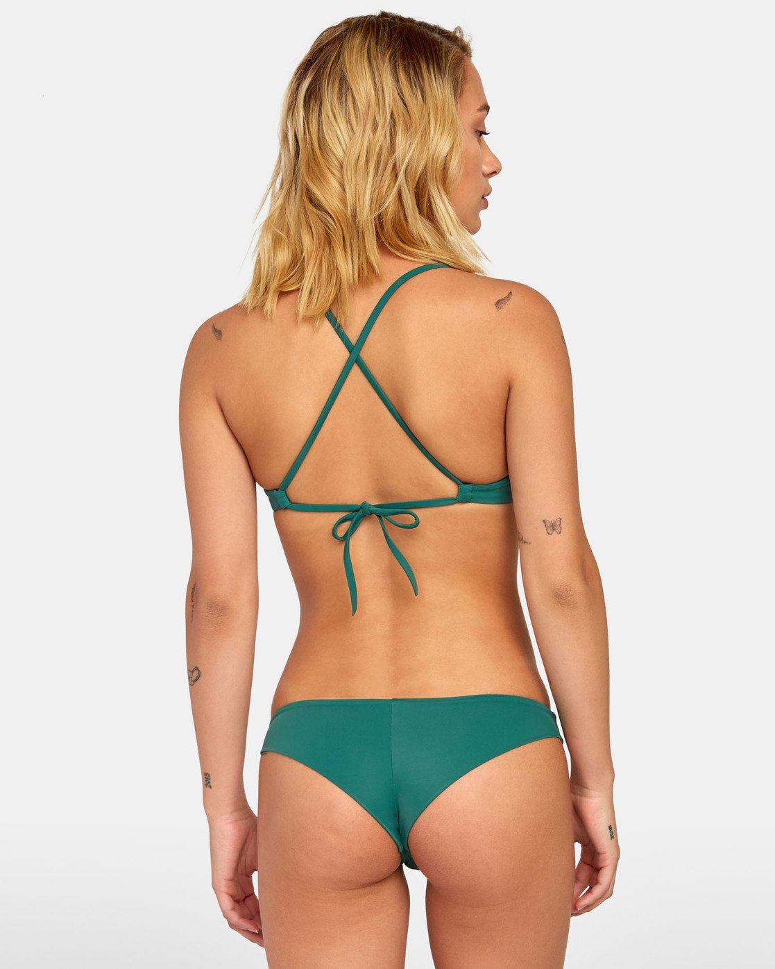 0 Solid Cheeky - Cheeky Bikini Bottoms for Women Green S3SBRLRVP0 RVCA
