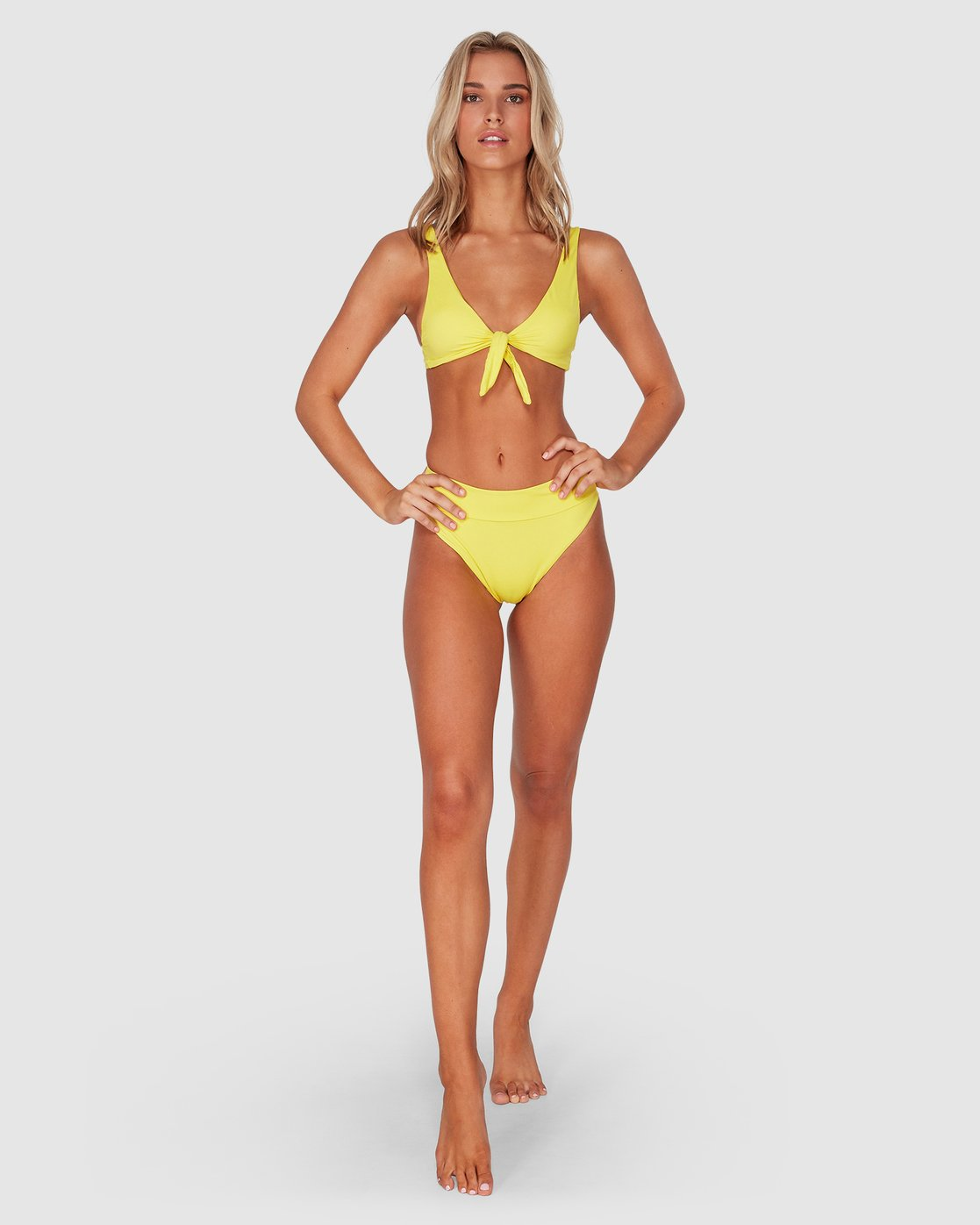 4 Solid - High Rise Bikini Bottoms for Women  S3SBRMRVP0 RVCA