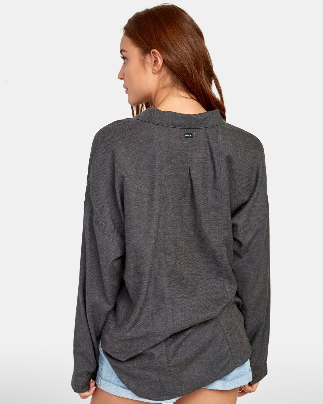4 Habit - Plaid Shirt for Plaid Shirt Black S3SHRARVP0 RVCA