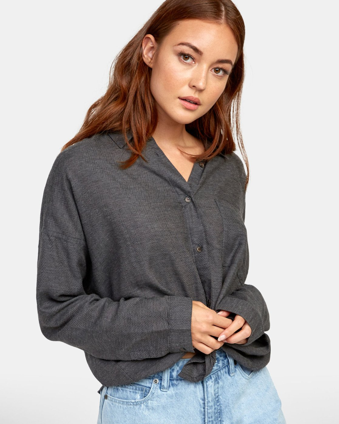 3 Habit - Plaid Shirt for Plaid Shirt Black S3SHRARVP0 RVCA