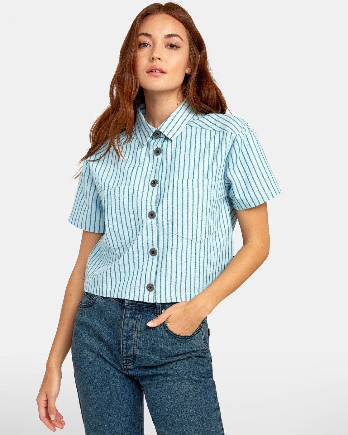 0 Jefferson - Striped Shirt for Striped Shirt  S3SHRDRVP0 RVCA