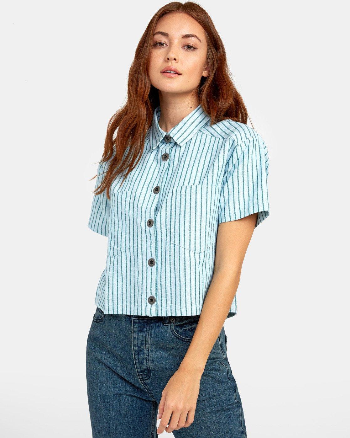 2 Jefferson - Striped Shirt for Striped Shirt  S3SHRDRVP0 RVCA