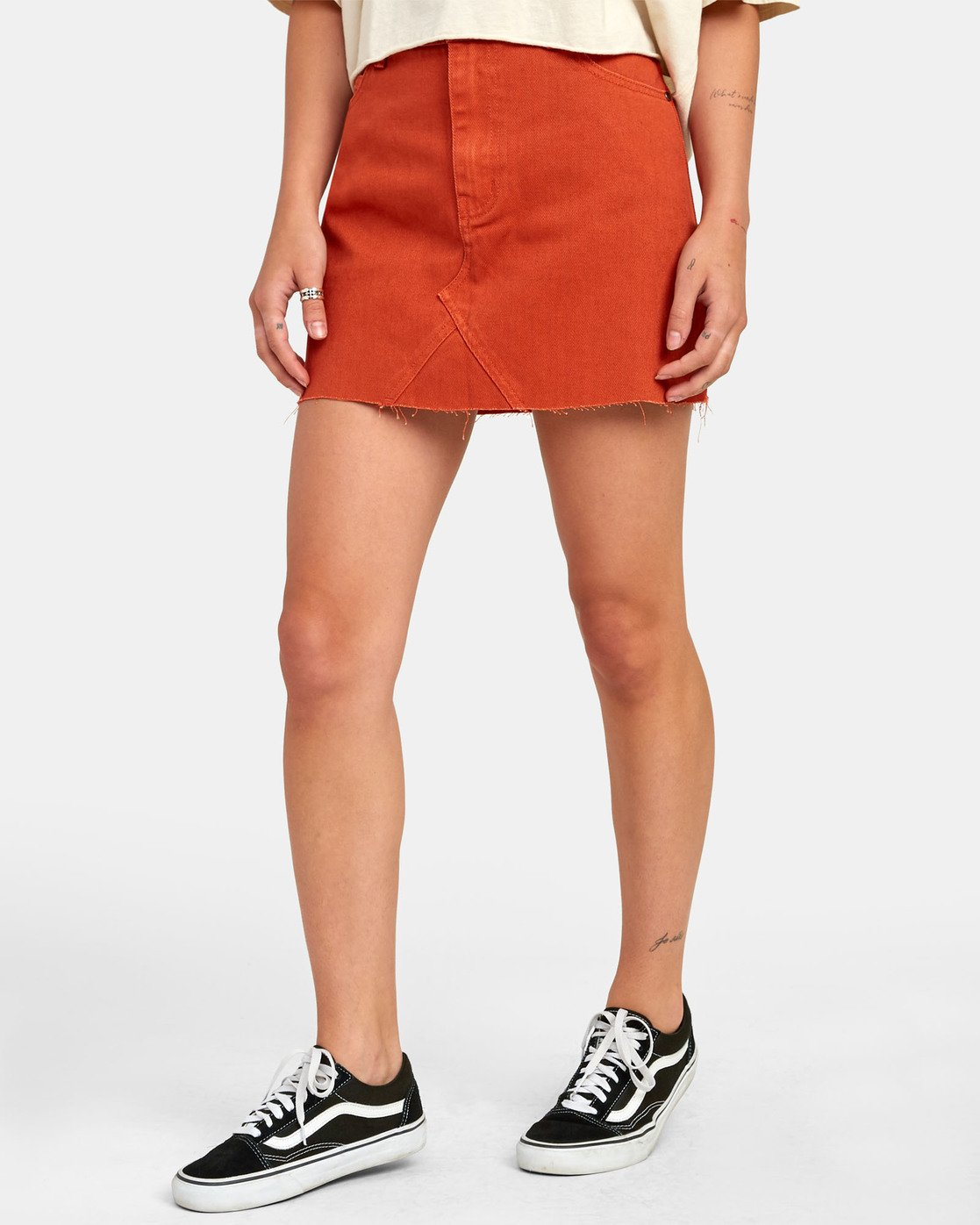 2 Siena - Jupe en jean taille haute pour Femme Orange S3SKRARVP0 RVCA