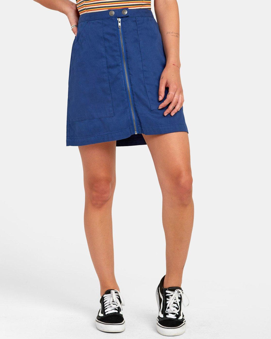3 Oconnor - Jupe pour Femme Bleu S3SKRBRVP0 RVCA