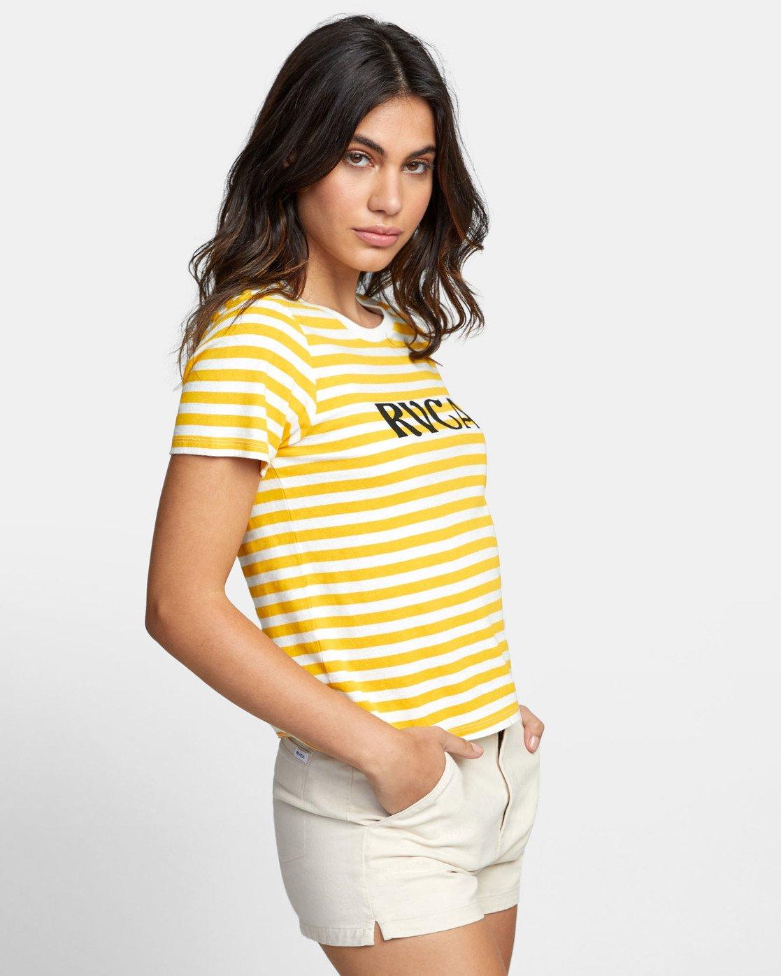 2 Murphy Stripe - Striped T-Shirt for Women White S3SSRBRVP0 RVCA