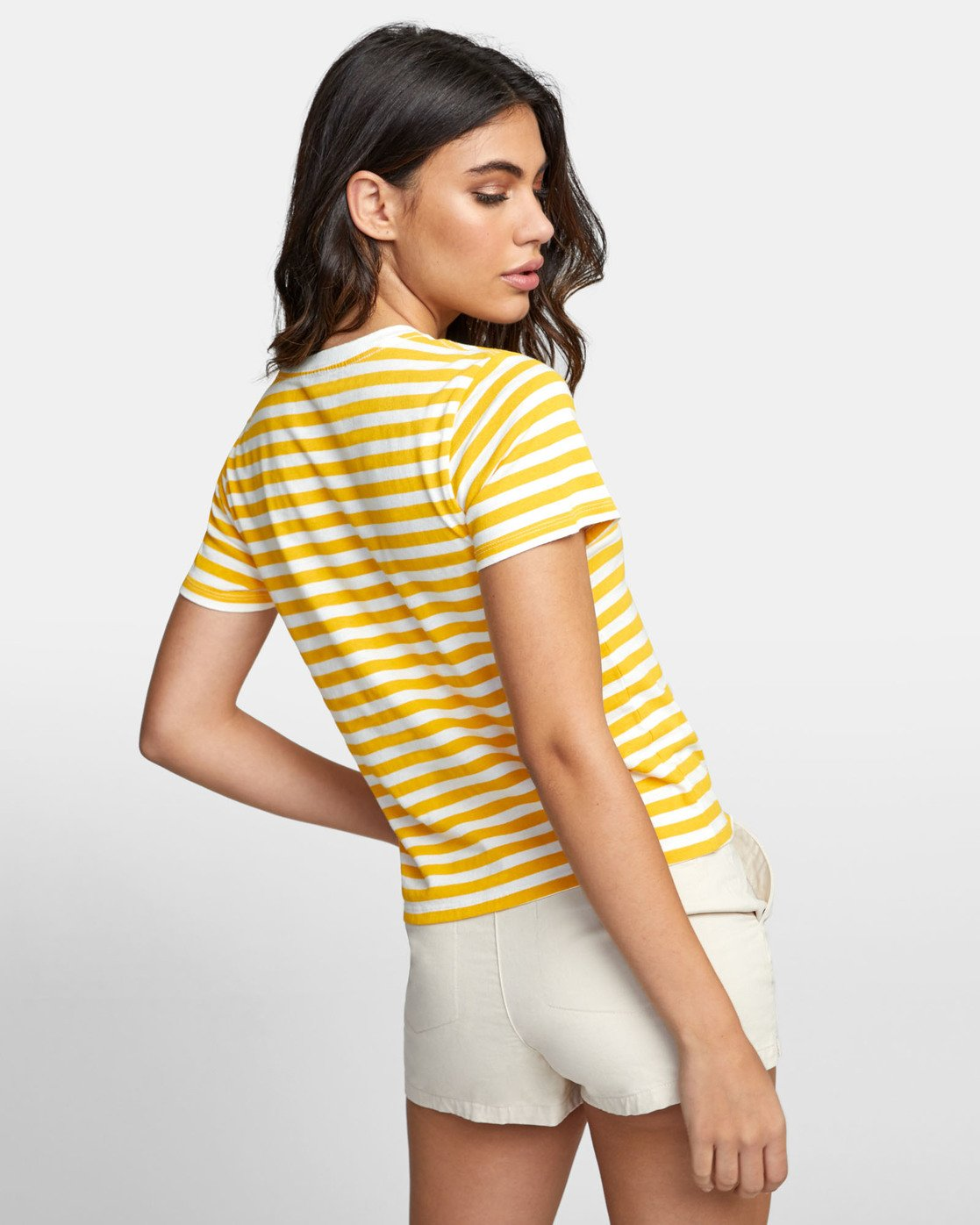 3 Murphy Stripe - Striped T-Shirt for Women White S3SSRBRVP0 RVCA