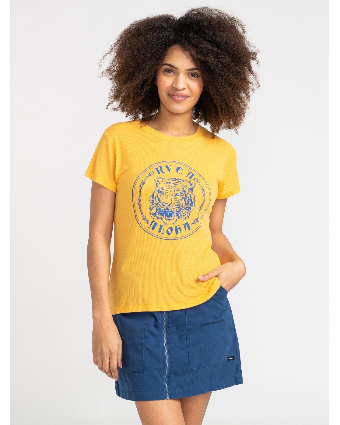 0 Benjamin Jeanjean Alohatiger - T-Shirt for T-Shirt Yellow S3SSRIRVP0 RVCA