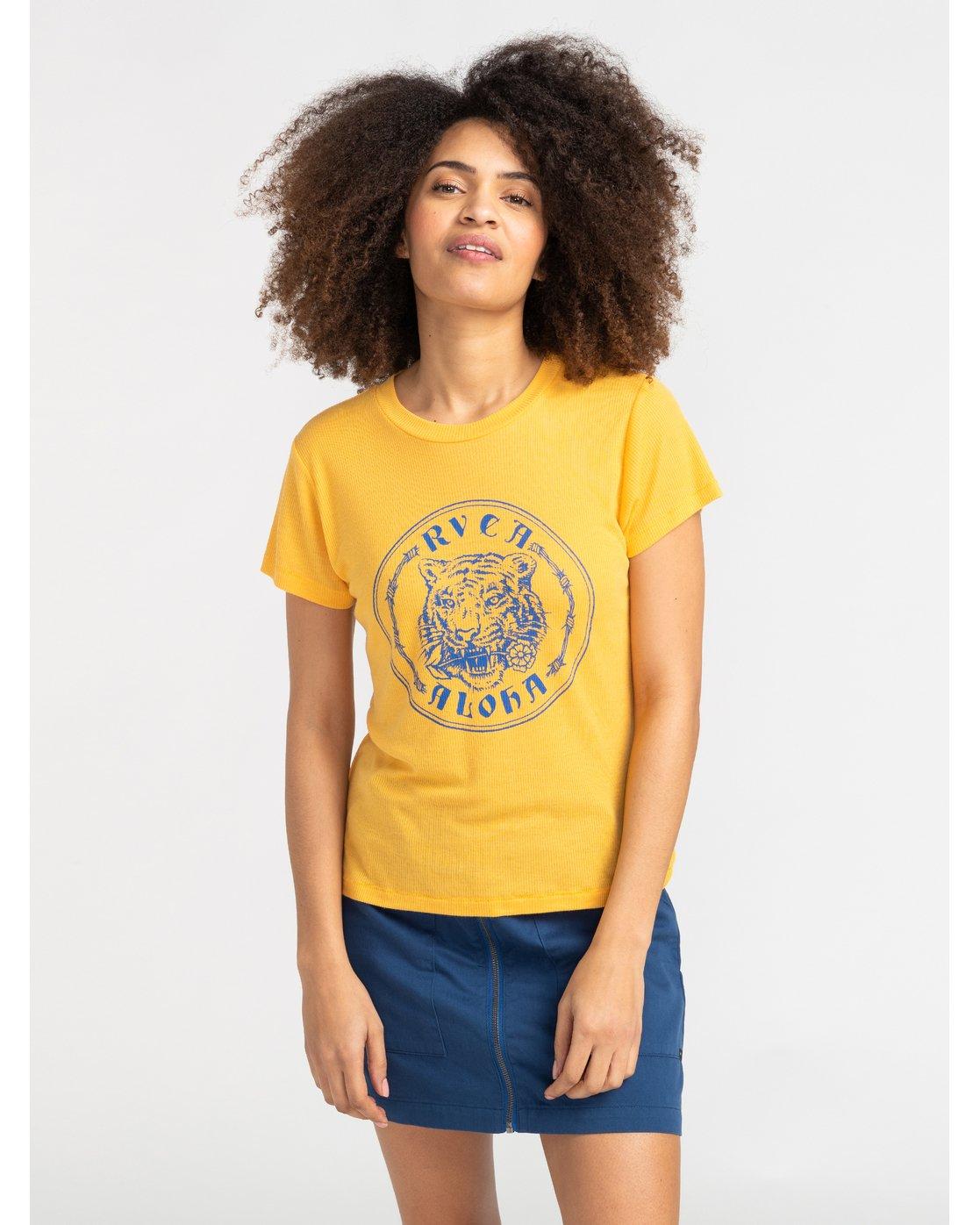 1 Benjamin Jeanjean Alohatiger - T-Shirt for T-Shirt Yellow S3SSRIRVP0 RVCA