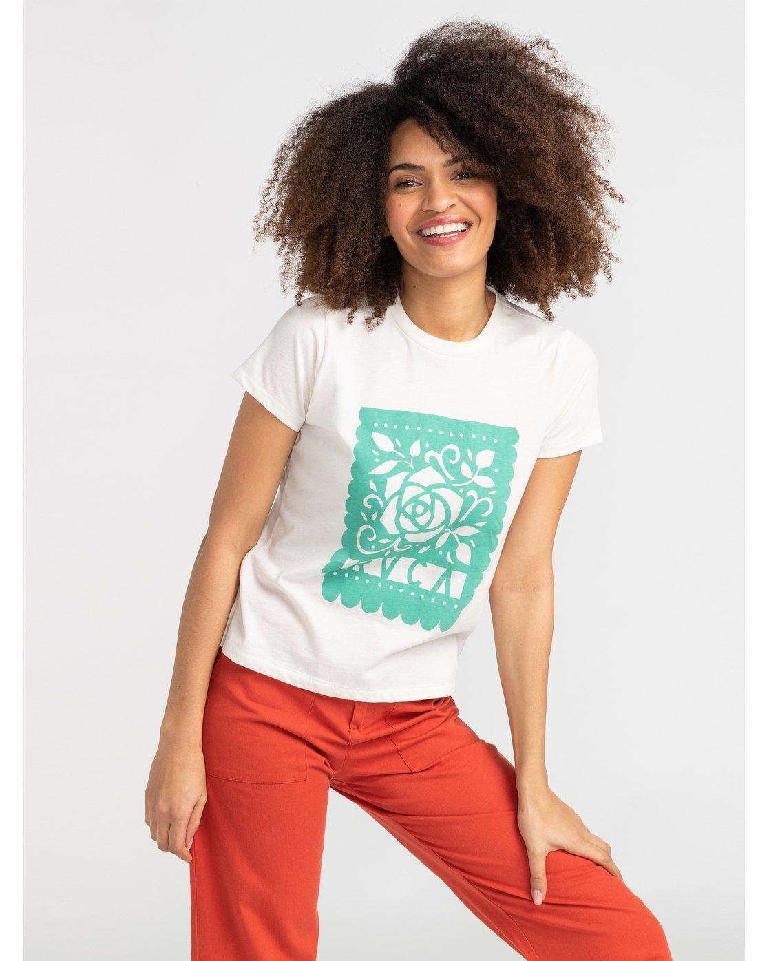 1 Hot Fudge La Rosa - T-Shirt for T-Shirt White S3SSRKRVP0 RVCA