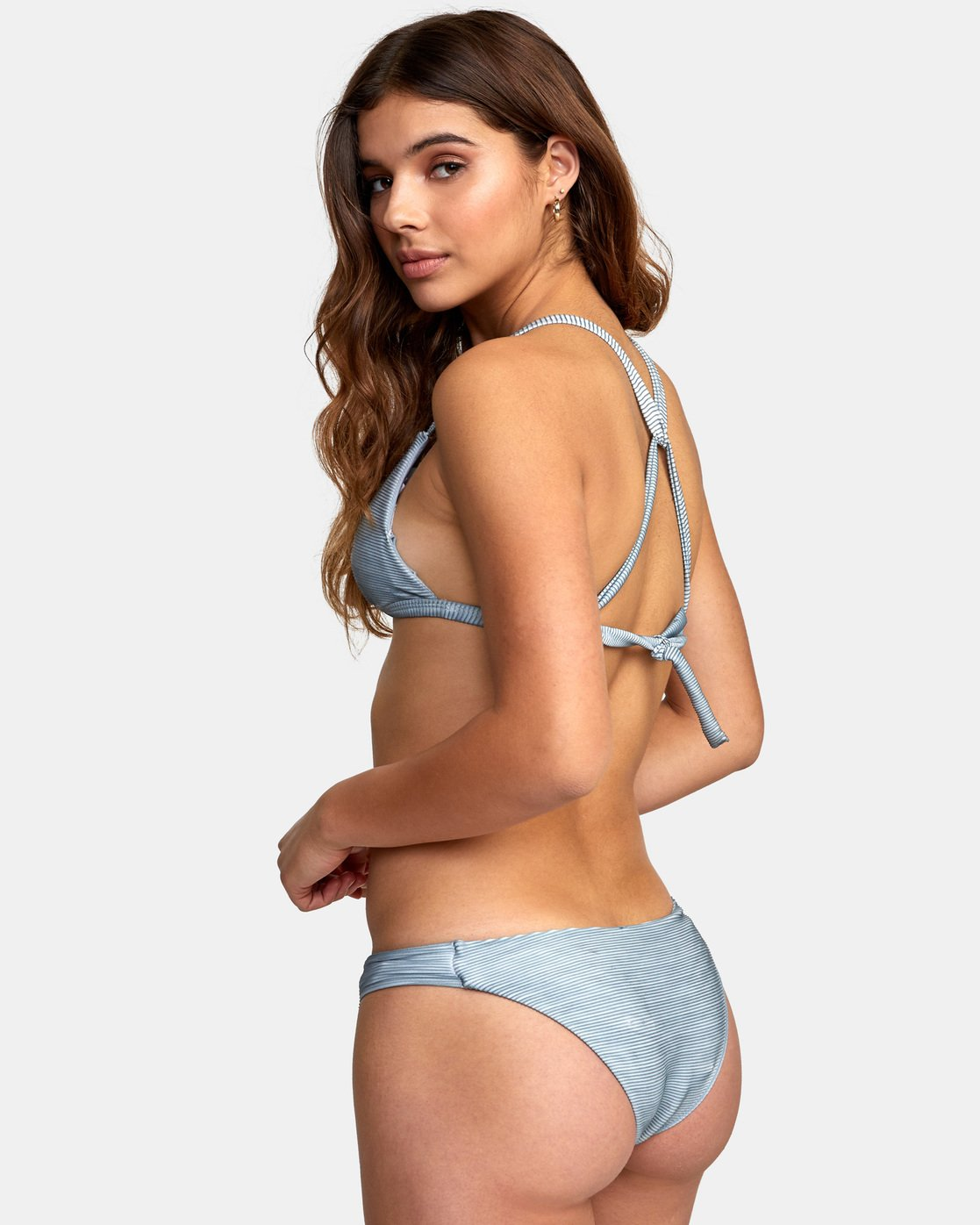 1 Salt Wash Racer - Rib Knit Triangle Bikini Top for Women  S3STRARVP0 RVCA
