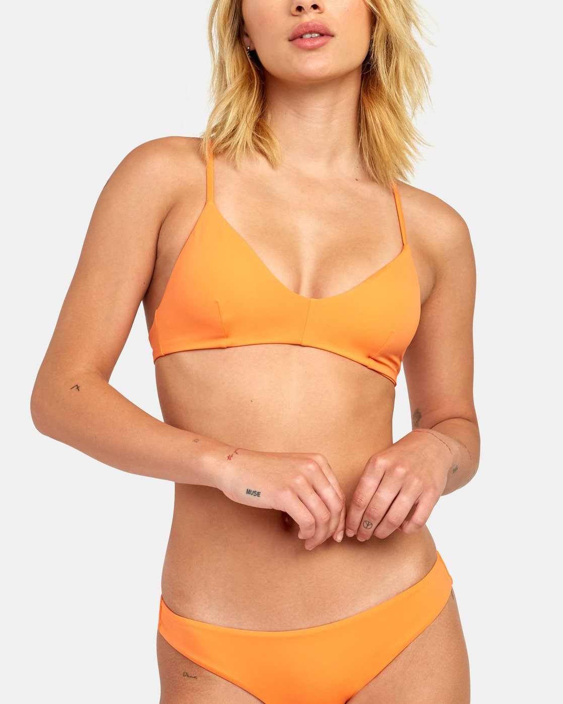 3 Solid Cross Back - Bikini Top for Women  S3STRLRVP0 RVCA