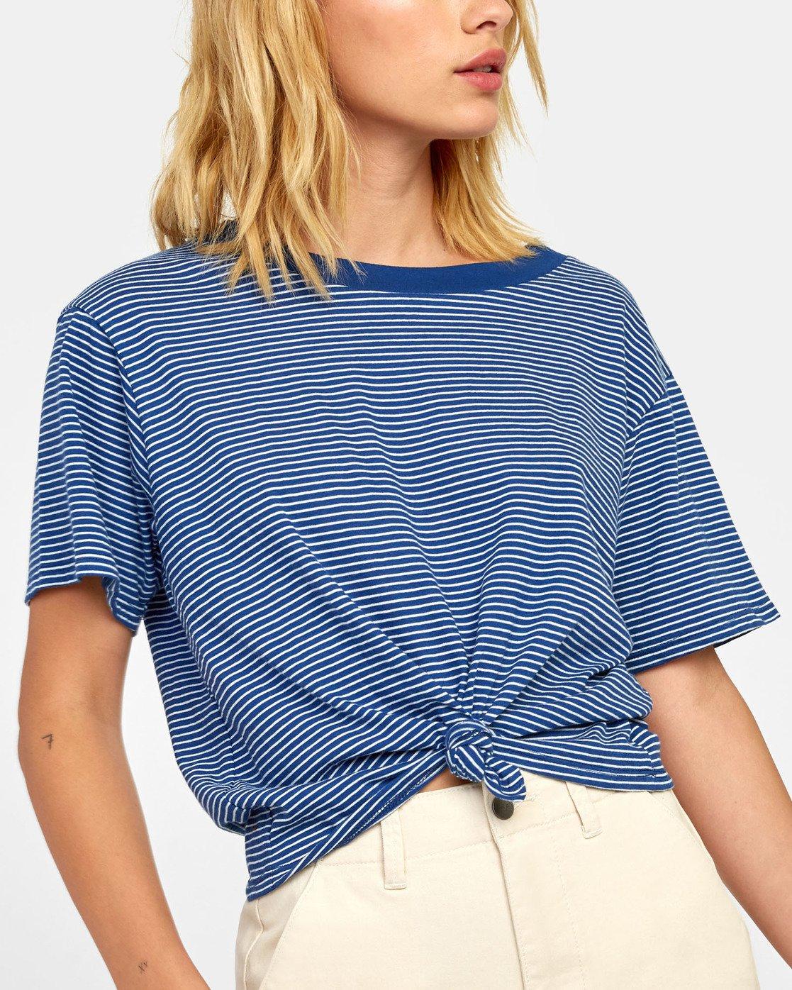 5 Radley - Striped T-Shirt for Women Blue S3TPRCRVP0 RVCA