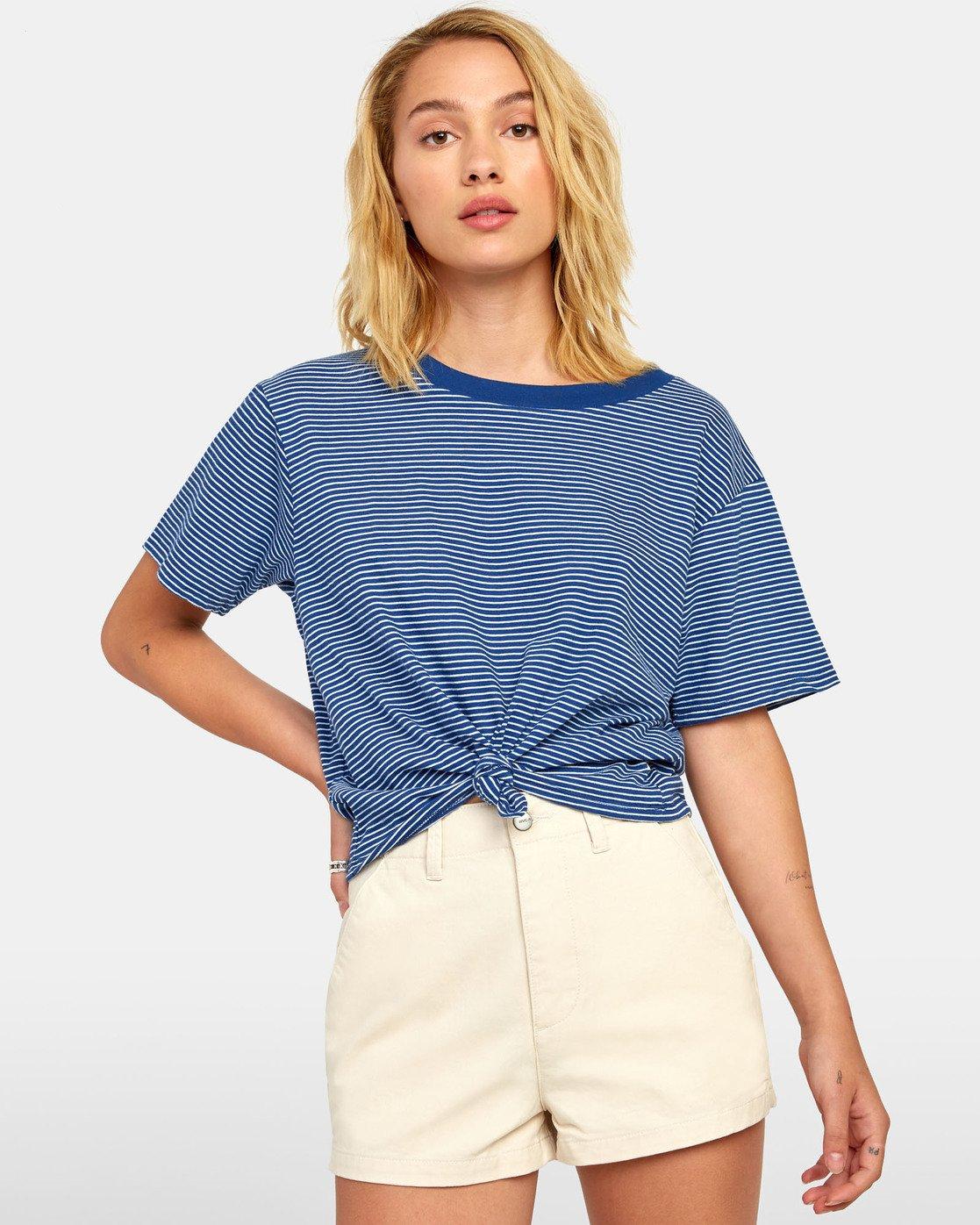 0 Radley - Striped T-Shirt for Women Blue S3TPRCRVP0 RVCA