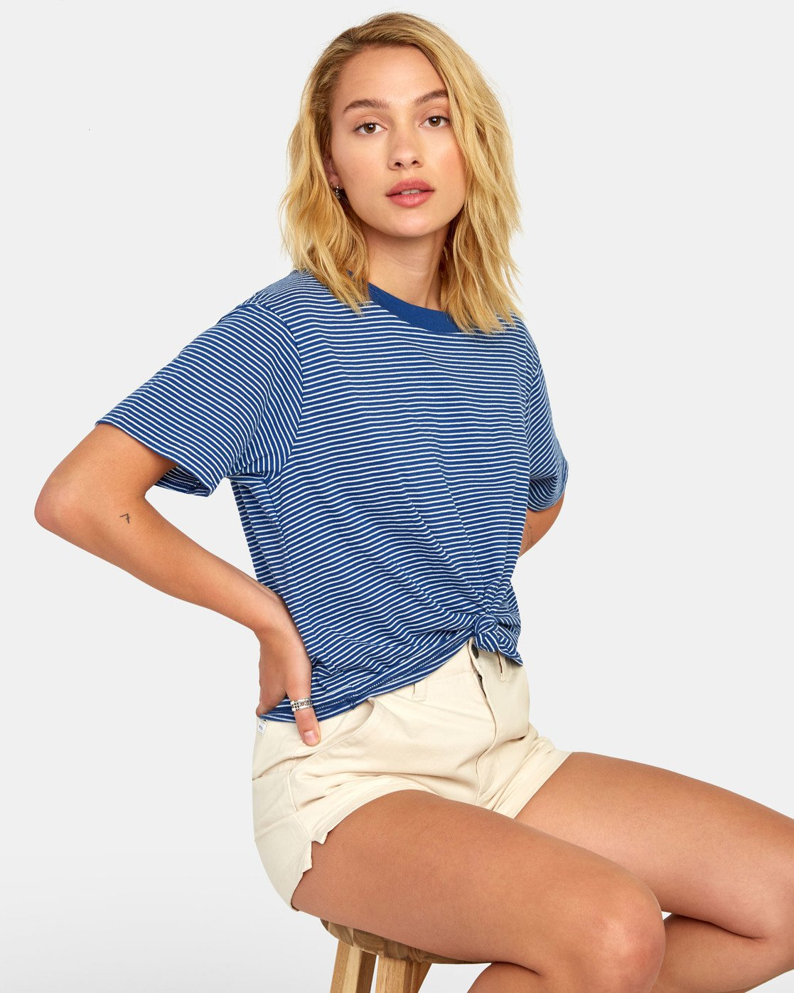 1 Radley - Striped T-Shirt for Women Blue S3TPRCRVP0 RVCA
