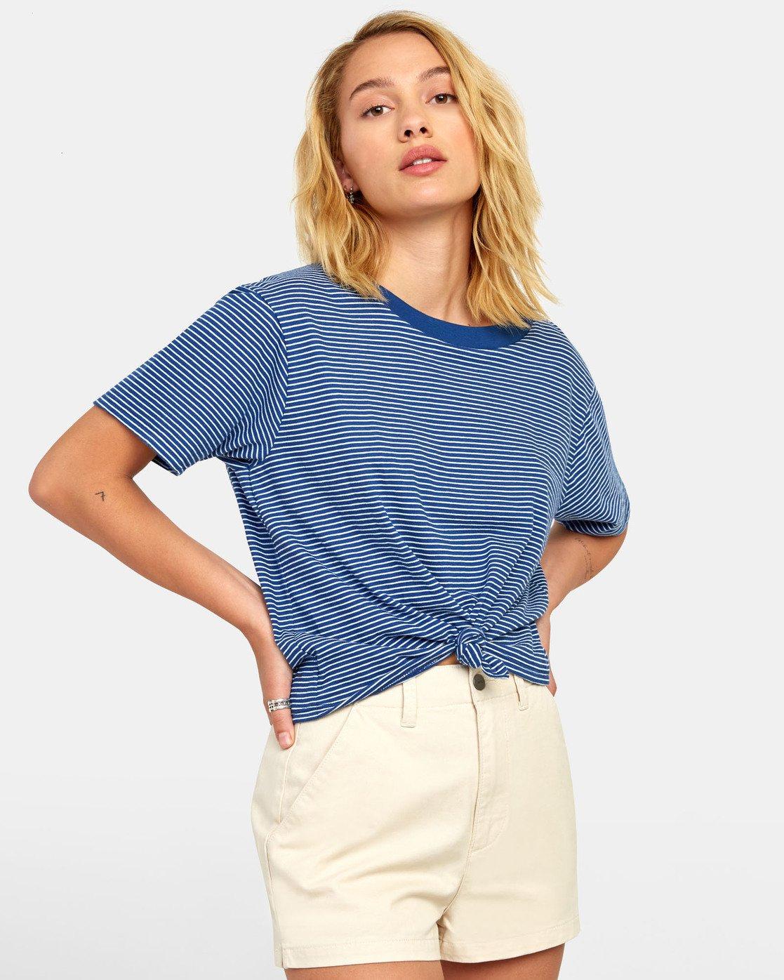 2 Radley - Striped T-Shirt for Women Blue S3TPRCRVP0 RVCA