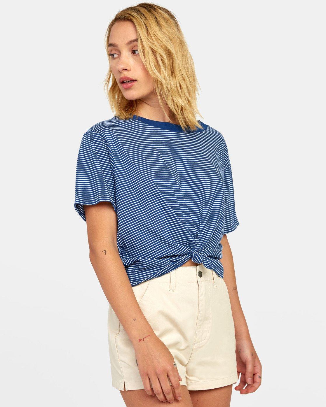 4 Radley - Striped T-Shirt for Women Blue S3TPRCRVP0 RVCA