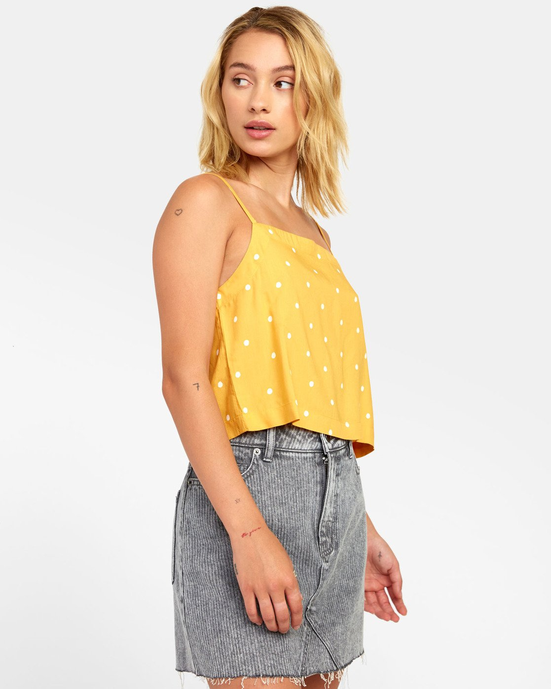 1 Logan - Printed Cami for Women Yellow S3TPRGRVP0 RVCA